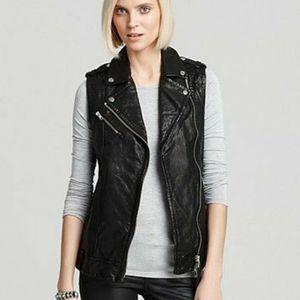 Mackage Lamb Leather Motorcycle Vest
